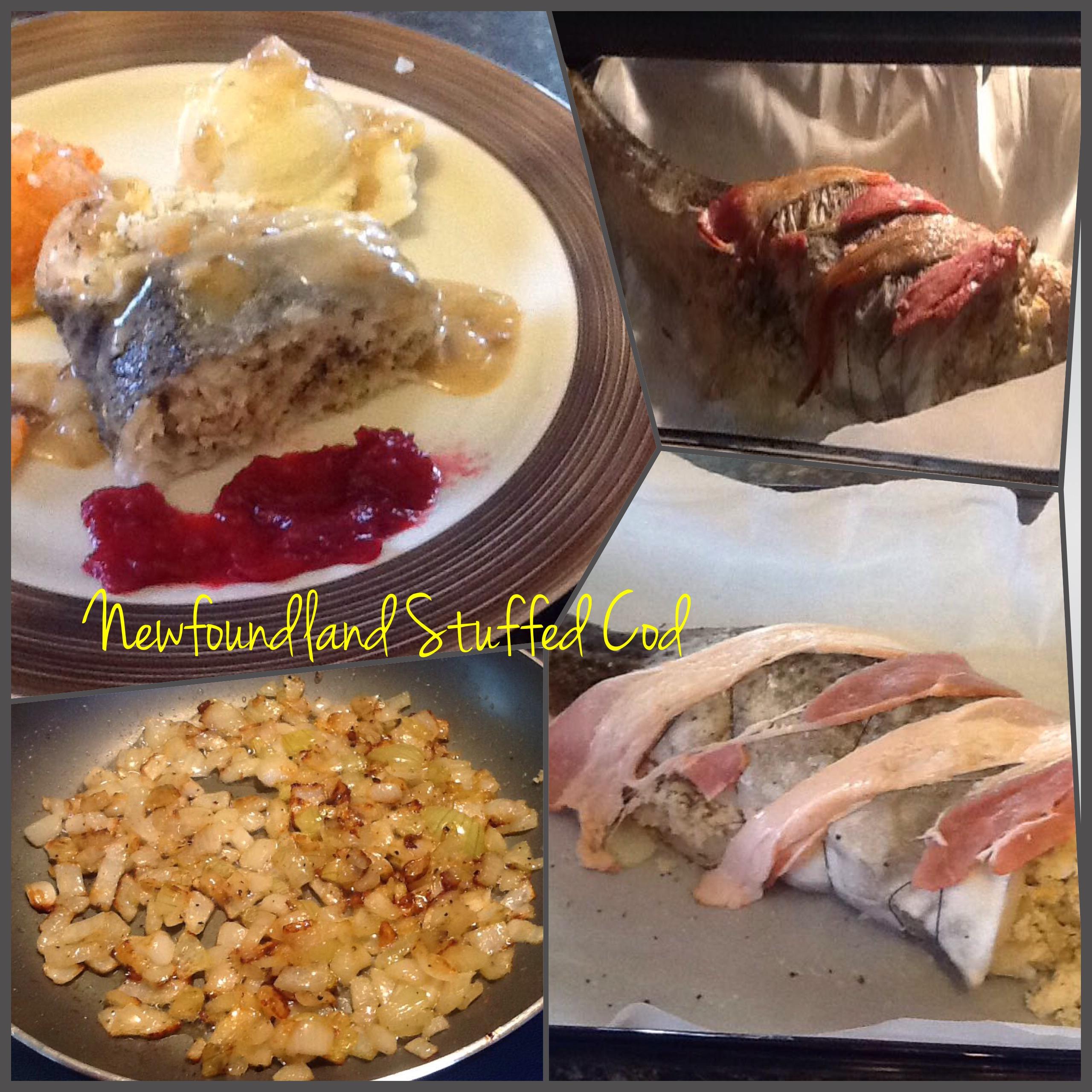 Traditional newfoundland stuffed cod bonita 39 s kitchen for Bonita fish recipes