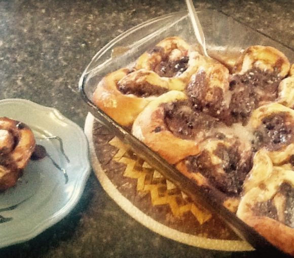 Traditional Newfoundland Cinnamon Blueberry Sticky Rolls