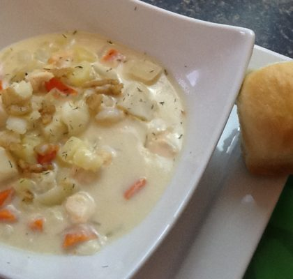 Traditional Newfoundland Seafood Chowder