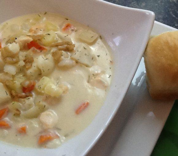 Traditional Newfoundland Seafood Chowder