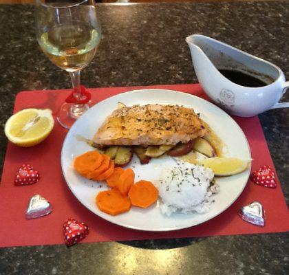 Salmon with Molasses Sauce