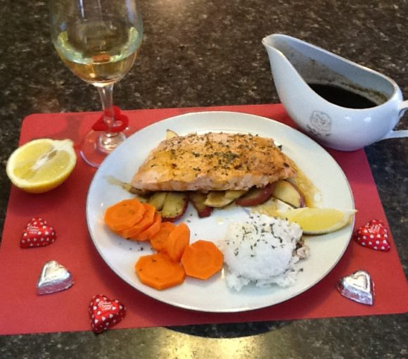 Salmon with Molasses Sauce