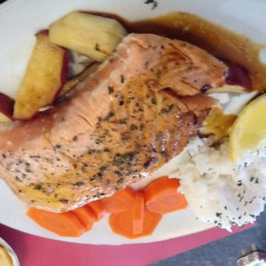 Atlantic Salmon with Molasses Sauce