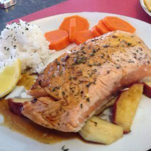 Atlantic Salmon with Molasses Sauce