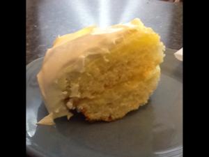 Layered lemon cake