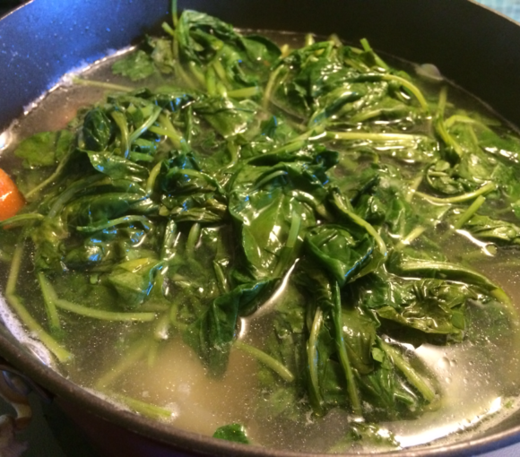 Boiled Turnip Greens