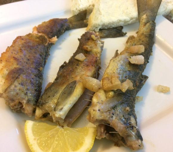 Pan Fried Pond Trout