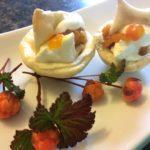 Traditional Newfoundland Bakeapple Cream Cheese Tarts