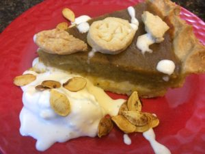 Pumpkin spice cream cheese pie