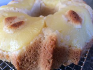 Upside down pineapple bundt cake