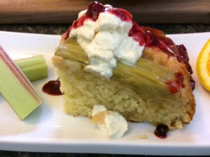 Upside Down Rhubarb Cake Bonita S Kitchen